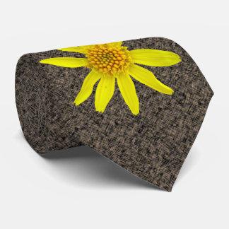 Botanical Yellow Wildflower Photo Neck Tie