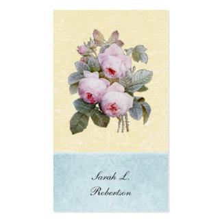 Botánico color de rosa inglés personalizado tarjetas de visita