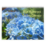Botánico floral del Hydrangea del calendario azul