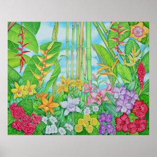 Botánico tropical poster