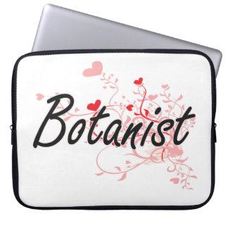 Botanist Artistic Job Design with Hearts Laptop Sleeve