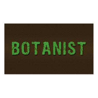 Botanist Botany Leaf Typography Business Cards