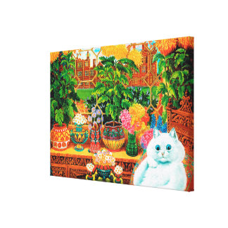 Botanist Cat, Louis Wain Canvas Print