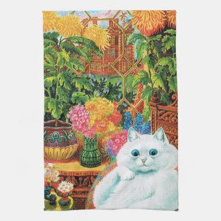 Botanist Cat, Louis Wain Kitchen Towel
