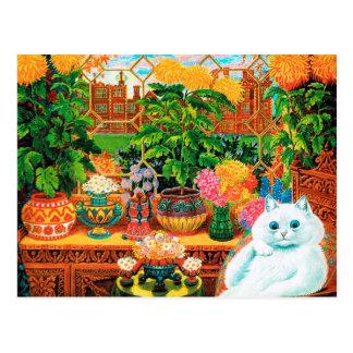 Botanist Cat, Louis Wain Postcard