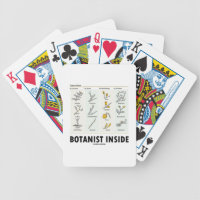Botanist Inside (Different Types Of Buds) Bicycle Playing Cards