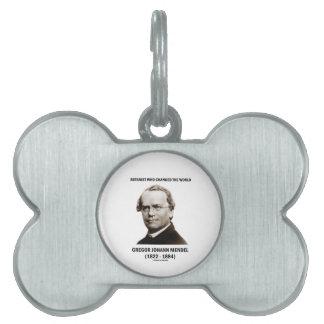 Botanist Who Changed The World Gregor Mendel Pet Name Tags