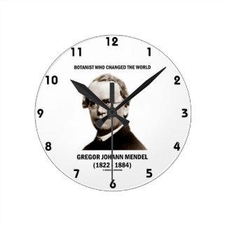 Botanist Who Changed The World Gregor Mendel Round Clock