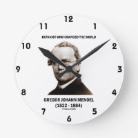 Botanist Who Changed The World Gregor Mendel Round Wall Clocks