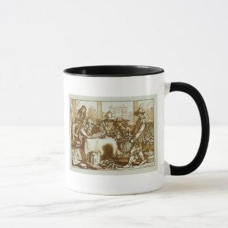 Botanists examining plants (litho) mug