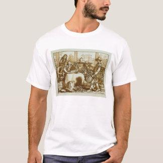 Botanists examining plants (litho) T-Shirt