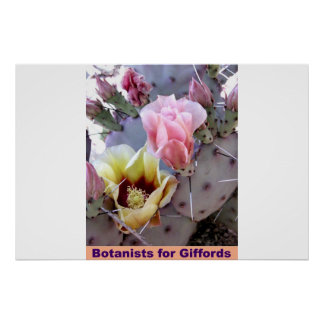Botanists For Giffords Poster