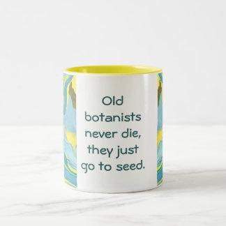 botanists joke Two-Tone coffee mug