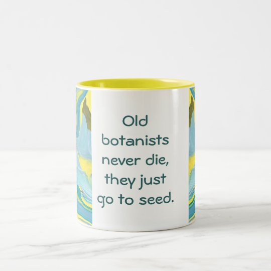 botanists joke Two-Tone coffee mug