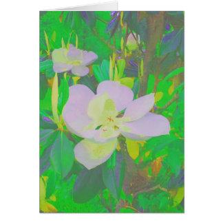 Botannical Floral Notecard Magnolias