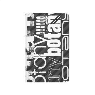 Botany; Black & Dark Gray Stripes Journal