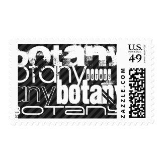 Botany; Black & Dark Gray Stripes Postage
