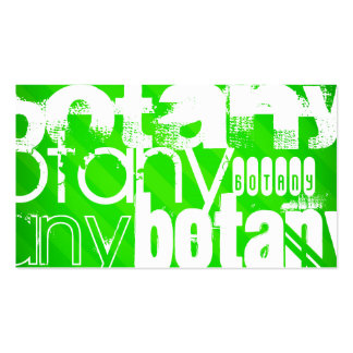Botany; Neon Green Stripes Double-Sided Standard Business Cards (Pack Of 100)