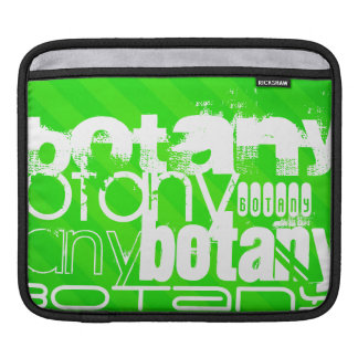 Botany; Neon Green Stripes Sleeve For iPads