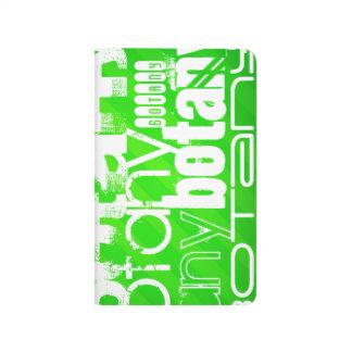 Botany; Neon Green Stripes Journal