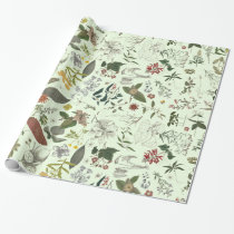 Botany pattern 1 wrapping paper