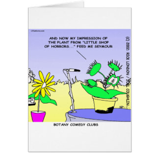 Botany Standup Comedians Funny Card