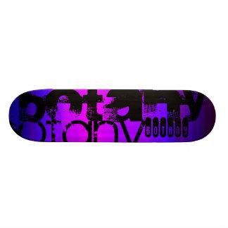Botany; Vibrant Violet Blue and Magenta Skateboard