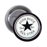 Botão redondo Punk Rock Pin Redondo 5 Cm
