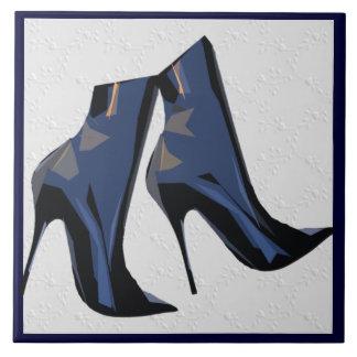 Botas agudas - arte de la bota azulejo cuadrado grande