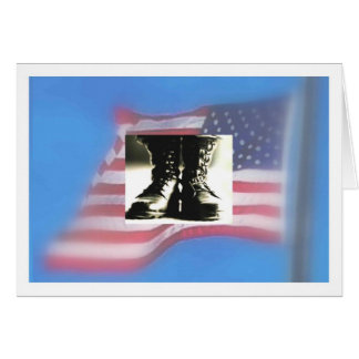 Botas de combate, bandera de los E.E.U.U., Tarjeta De Felicitación