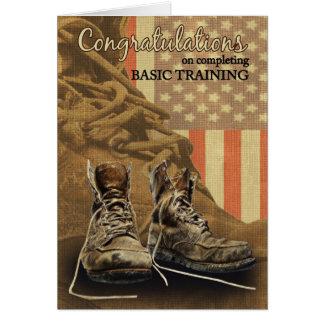 Botas de combate de la enhorabuena de la formación tarjeta de felicitación