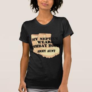 Botas de combate de tía Nephew Desert del ejército Camiseta