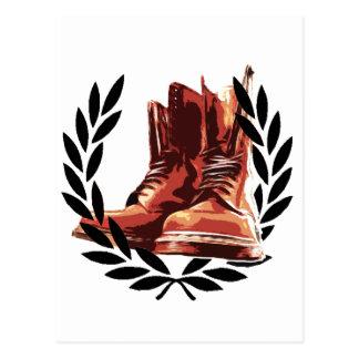 botas de las pieles tarjeta postal