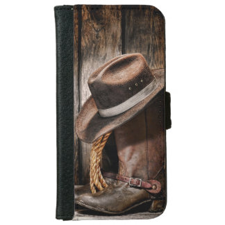 Botas de montar a caballo y gorra de vaquero carcasa de iPhone 6