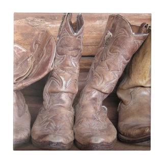 Botas de vaquero teja cerámica