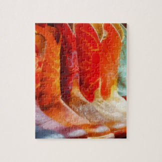 Botas de vaquero coloridas puzzle con fotos