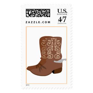 Botas de vaquero de Brown Timbre Postal