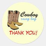 Botas de vaquero - el Swag le agradece Pegatina Redonda