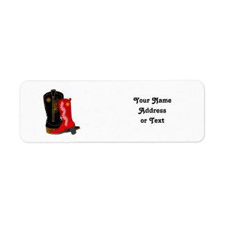Botas de vaquero etiqueta de remitente