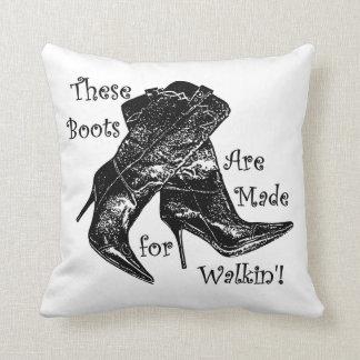 botas de vaquero hechas para el amortiguador del almohadas