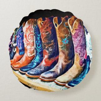 Botas de vaquero cojín redondo