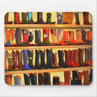 Botas de vaquero Mousepad