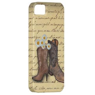 Botas de vaquero occidentales del vintage funda para iPhone SE/5/5s