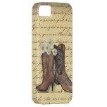 Botas de vaquero occidentales del vintage iphone5c iPhone 5 Case-Mate carcasas