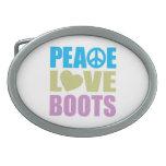 Botas del amor de la paz hebilla cinturon