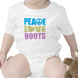 Botas del amor de la paz traje de bebé