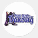 Botas del baile pegatinas redondas