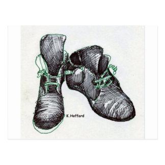 Botas del baile postales