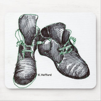 Botas del baile tapetes de ratón