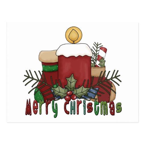 Botas del navidad tarjeta postal